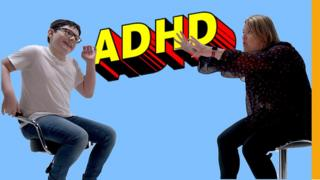 A boy and a woman with ADHD