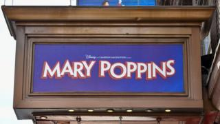 Mary Poppins theatre sign