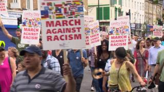 Protestors in Hammersmith