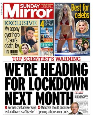 Sunday Mirror front page