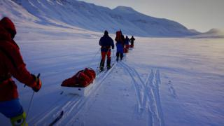 Training in Spitzbergen