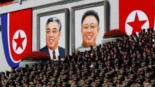 Retratos de Kim Il-sung e Kim Jong-il
