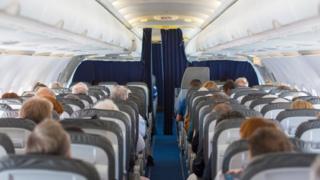 passengers on aeroplane
