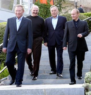 Главы Украины, России, Казахстана и Беларуси