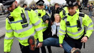 Arrests on Waterloo Bridge