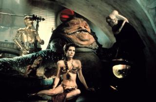 The bikini as worn in Return of the Jedi