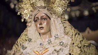 Virgen de la Macarena - the weeping statue of the Virgin Mary at Church