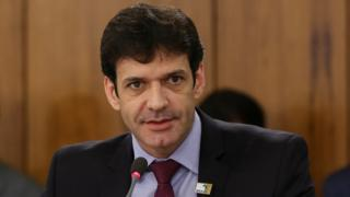 Ministro ddo Turismo, Marcelo Álvaro Antônio, fala em reunião do governo em 3 de janeiro de 2019