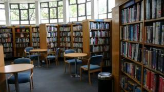 Interior of a public library