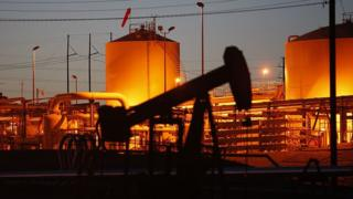 Pozo petrolero Foto genérica de archivo