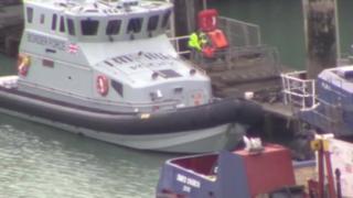 Migrants brought ashore in Kent