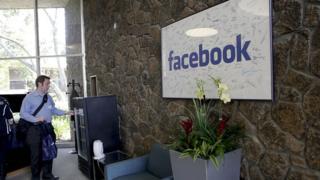 Recepción de la sede de Facebook en Palo Alto, California.