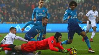 asọle Arsenal Petr Cech l'ojule