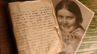 Реня Шпигель и страница из ее дневника
