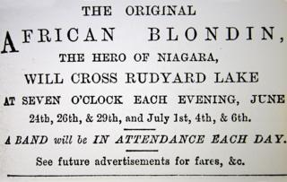 A poster advertising the African Blondin at Rudyard Lake
