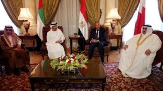รัฐมนตรีต่างประเทศของ 4 ชาติอาหรับ พบหารือกันที่กรุงไคโรของอียิปต์