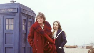 Tom Baker and Lalla Ward in the Doctor Who adventure The Leisure Hive
