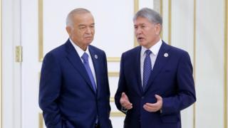 Президентлар Ислом Каримов ва Алмазбек Атамбаевларнинг 2016 йил 24 июнда Тошкентда бўлиб ўтган ШҲТ саммитидаги суҳбати