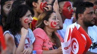 Tunisian fans in Tunis