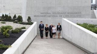 Prime Minister Trudeau attends the opening of the National Holocaust Monument in Ottawa, Ontario