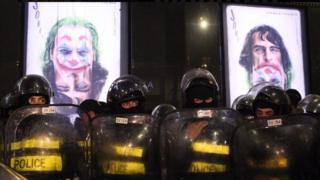 Police in Tblisi