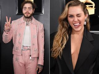 Post Malone and Miley Cyrus