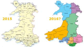 Council maps 2015 - and possible reorganised maps for 2016