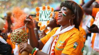 Supporteurs de l'équipe nationale de Côte d'Ivoire