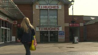 TJ Hughes empty retail outlet in Wrexham