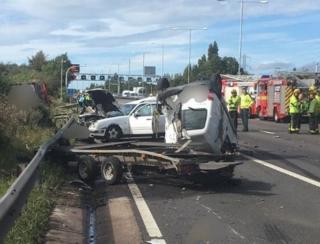 Accident on motorway