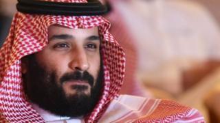O príncipe herdeiro da Arábia Saudita Mohammed bin Salman