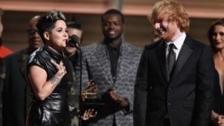 Amy Wadge ac Ed Sheeran