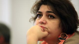 March 2014 file photo shows Khadija Ismayilova