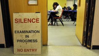 Exam sign