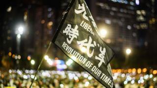 新冠疫情后,香港示威稍微缓和。