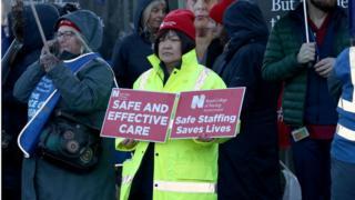 Northern Ireland Striking nurses