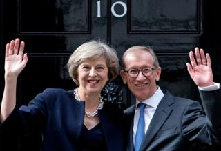 Theresa May and husband Philip