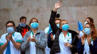 Coronavirus: Spain PM sees 'fire coming under control'