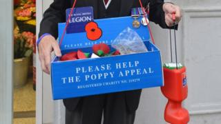 Poppy Appeal box and tin