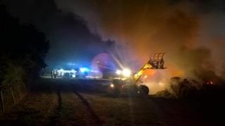 Barn fire near Dorchester