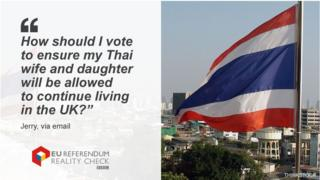"Jerry asking: ""How should I vote to ensure my Thai wife and daugher will be allowed to continue living in the UK?"""