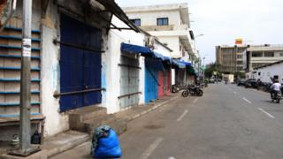 Une rue déserte de Lomé le 25 août 2017, après la mort de deux manifestants (illustration).