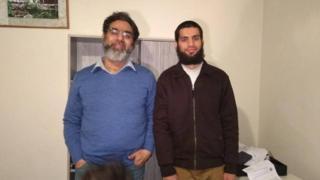 Pakistani victims Naeem Rashid, 50, and his 21-year-old son Talha