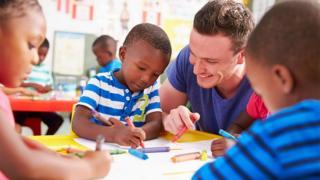 teacher in nursery