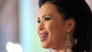 Princess Ubolratana Rajakanya of Thailand delivers a speech at the 'Where the Miracle Happens' press ponference at the Carlton Hotel during the 61st Cannes International Film Festival on May 15, 2008