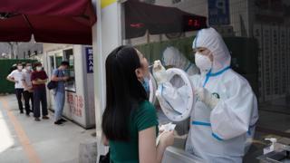Coronavirus testing taking place in Beijing