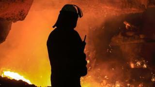 British Steel steelworker in Scunthorpe