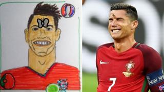 Ronaldo moth sticker