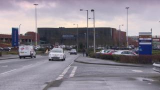 The Connswater retail park in east Belfast includes a shopping centre and a number of separate stores selling bulky goods