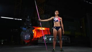 Jessica Ennis-Hill at Sheffield Forgemasters